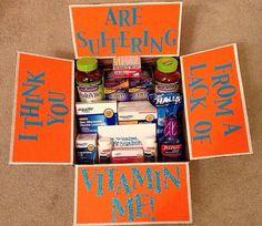 A very creative way to send vitamins or medicine to ur hubbs