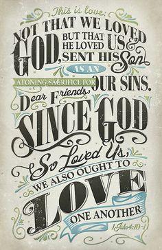#Scripture                              1 John 4:10-11