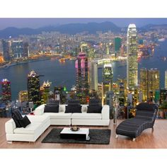 Fotobehang Hongkong Skyline - Love For Deco Mooi fotobehang met uitzicht op Hong Kong