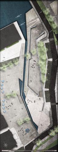 Site Plan Rendering   Riqualificazione della piazza Ferdinando di Savoia. Peschiera del Garda