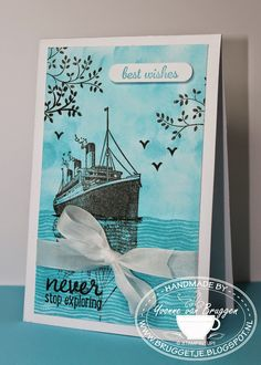 Yvonne is Stampin' & Scrapping: Stampin´ Up! chalk lines water card