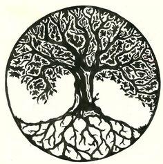 Celtic Tree of Life. - Celtic Tree of Life. Tattoo Trees, Oak Tree Tattoo, Tree Tattoo Back, Tree Tattoo Designs, Tattoo Design Drawings, Body Art Tattoos, Cool Tattoos, Tatoos, Tattoo Life