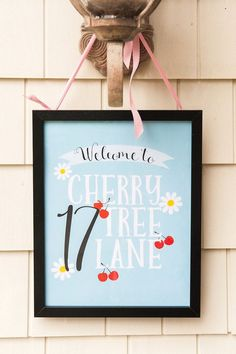 Cherry Tree Lane printable from Mary Poppins Birthday Party at Kara's Party Ideas. See more at karaspartyideas.com!