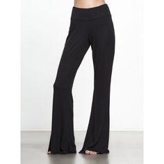 Alo Yoga Yogi Flare Pant ($82) ❤ liked on Polyvore featuring pants, flared trousers, alo yoga pants, flare pants, flared pants and flare trousers