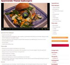 Thaise kipburgers