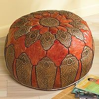 Have an international staycation with this Moroccan ottoman.