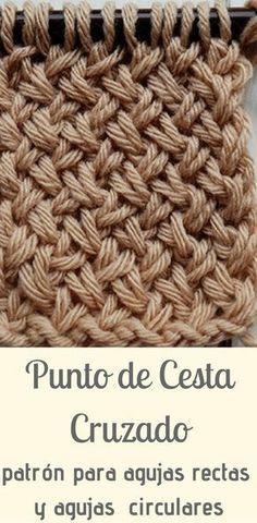 Cross-stitch knitted in two needles / sticks Knitting Stitches, Knitting Yarn, Baby Knitting, Knitting Patterns, Crochet Patterns, Learn To Crochet, Knit Crochet, Knitting Projects, Crochet Projects