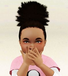 So here is the poofy ponytail for toddlers both kinky and relaxed(as requested). I took off the baby hairs and I'll be releasing thoughs separately as a blush for Toddlers-A. I'll also release this...