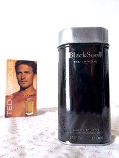 Ted Lapidus Black Soul edt 100 ml. Ted Lapidus, Paris, Travel Mug, Mugs, Tableware, Black, Toilets, Dinnerware, Black People