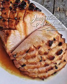 """""""Deliciosa opción para tu menú navideño Toma nota! #Receta: LOMO AHUMADO MERMELADA DE JENGIBRE Ingredientes: 1 Lomo de cerdo ahumado de tres libras…"""" Tropical Paradise, Snack, Apple Pie, Catering, Picnic, Cooking Recipes, Diet, Desserts, Dominican Republic"""
