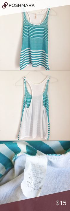 Feels like poly front with softer modal racer back. Striped Tank, Fashion Tips, Fashion Design, Fashion Trends, Anthropologie, Mixed Media, Feels, Blue And White, Summer Dresses