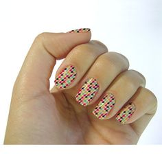 2016 Water Transfer Foils Nail Art Stickers Colored Houndstooth Pattern Designs Manicure Decals Beauty Nail Wraps Decor ZJT048