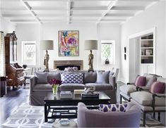 touches of purple | lilac velvet sofas