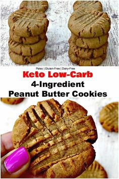 Keto Low-Carb 4 Ingredient Peanut Butter Cookies is a quick and easy, dairy-free. Melody Bar And Grill elenroxie ingredient cookies Keto Low-Carb 4 Ingredient Peanut Butter Cookies is a quick and easy, dairy-free, paleo, and gluten-free recipe with Dessert Simple, Keto Dessert Easy, Healthy Dessert Recipes, Dessert Bars, Keto Desert Recipes, Brunch Recipes, Dessert Ideas, Keto Peanut Butter Cookies, Keto Cookies