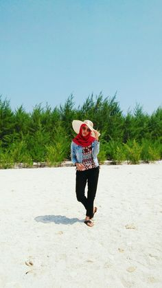 Summer vibe-my own red hijab