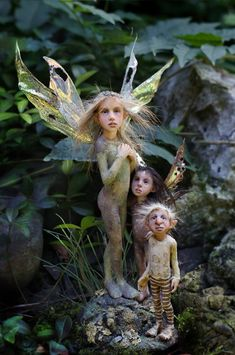 This girl does amazing art work.  Fairy Folk  Ooak by Tatjana Raum by chopoli on Etsy.     http://www.etsy.com/listing/113367612/ooak-by-tatjana-raum