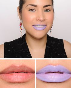 NYX Macaron Lippie NYX Earl Grey Macaron Lippie ($6.00 for 0.15 oz.) is a muted, light-medium cornflower blue--a purplish-blue--with a luminous finish. The