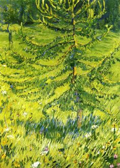 franz marc(1880-1916), larch sapling (aka larch sapling in a forest glade), 1908. oil on canvas, 100 x 71 cm. museum ludwig, cologne, germany  http://www.the-athenaeum.org/art/detail.php?ID=20948
