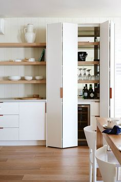 Sleek kitchen pantry