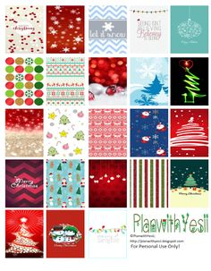Plan with Yesii: FREE Planner Printables; Christmas Square Stickers!