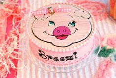 pig cake Pig Cookies, Cupcake Cookies, Piggy Cake, Animal Birthday Cakes, Pig Ideas, Pig Crafts, Pig Roast, Vintage Cakes, This Little Piggy