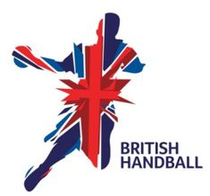 Silhouette of a handball player overlayed with the UK flag. One of our favourite UK Logos!
