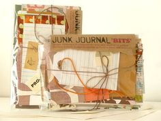 Home Office - JUNK JOURNAL 'bits' pack - colour-coordinated ephemera, pages and more to create a unique mini journal