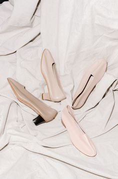 Nude kitten heels