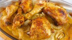 Pollo al horno con patatas y cebolla. Utilizando ésta técnica, tendrás un asado con una guarnición deliciosa. ¡Haz clic y compruébalo!
