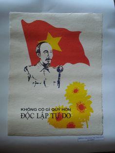 Original Viet Nam war propaganda poster, Hanoi