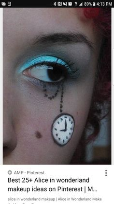 10 Great Alice In Wonderland Makeup Ideas alice in wonderland inspired eye makeu. 10 Great Alice In Wonderland Makeup Ideas alice in wonderland inspired eye makeup ravens alice and d Alice In Wonderland Makeup, Wonderland Costumes, Alice In Wonderland Tea Party, Halloween Alice In Wonderland, Mad Hatter Makeup, Mad Hatter Tea, Mad Hatters, Maquillage Mad Hatter, Party Makeup