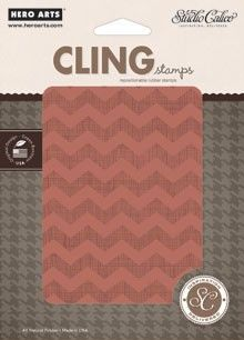 ♥ this!!! ... Chevron Background Cling Stamp by Studio Calico/Hero Arts - $11.99
