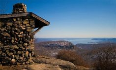 Harriman State Park New York   Bear Mountain, NY: West Mountain shelter, with views toward the Hudson ...