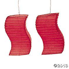 Red Wave Paper Lanterns
