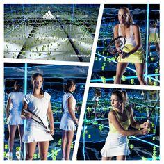 World's 1st Mirror Court. The adidas by Stella McCartney barricade launch featuring Caroline Wozniacki, Maria Kirilenko & Laura Robson: