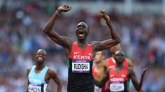 David Lekuta Rudisha wins the 800m at the 2012 Olympics