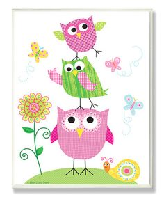 Take a look at this Owl Trio Wall Plaque by Stupell Industries on #zulily today!