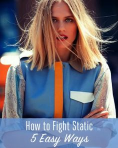 5 Easy Ways To Fight Hair Static - Remember when rubbing a balloon on your head to make your hair stick out was really fun? Yeah, now, not so much. But keeping your strands static-free can be a challenge, especially in the winter when the air is incredibly dry. So in order to brush your hair, wear a hat, or basically just wake up in the morning, you're going to want to read these 5 static-busting tips.