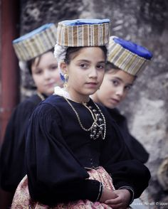 Traditional costume for girls from the city/comune of Scanno, the province of L'Aquila, the region of Abruzzo [nearly central in Italy from north to south; on the eastern coastline abutting the Adriatic Sea].