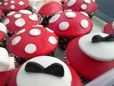 Mini mouse cupcakes, I made these for an order there are a few pictures of these.