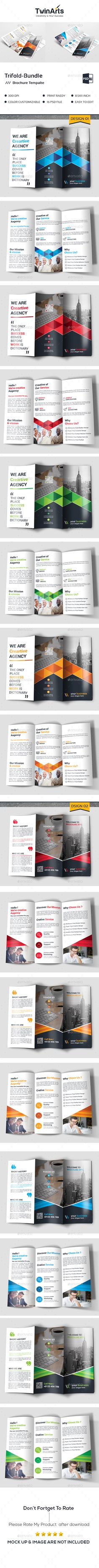 Trifold Bundle - Brochures Print Templates Download here : https://graphicriver.net/item/trifold-bundle/19478987?s_rank=17&ref=Al-fatih