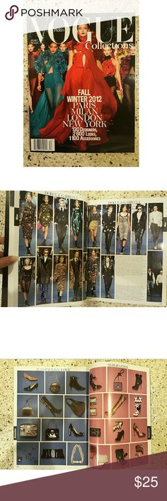 Vogue Paris Collections Fall/Winter 2012 Magazine Large 11.5x9 size huge spread of 347 full color, gorgeous pages straight from a massively influential time period of runway fashion. Remember those glittery Miu Miu shoes bloggers loved? Or Marc Jacob's polka dot craze? It's all cataloged here with inclusions of front row diaries on an hour by hour basis. Only opened for the first time to take a few photos of the inside of the edition. Brand new, with tags and worth every penny. This is only…