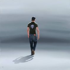 "Nigel Cox - ""Punisher"", 24"" x 24"", Oil on linen."