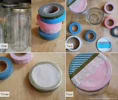 Use mason jars for storing little trinkets, why not dress them up?!?!