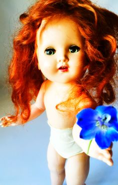 I picked you some love. Subject: Horsman Cindy Doll Circa 1950s. She picked you a love.