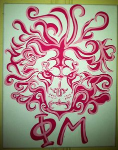 Fabulous lion head for Phi Mu on canvas. But my lion will be smiling cause Sir Fidel is happy! Phi Mu Crafts, Sorority Crafts, Lily Pulitzer Painting, Frat Girls, Diy Ideas, Craft Ideas, Like A Lion, Arts And Crafts, Diy Crafts