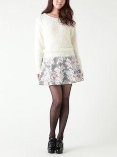 Pinky Girls|フラワープリントスカート