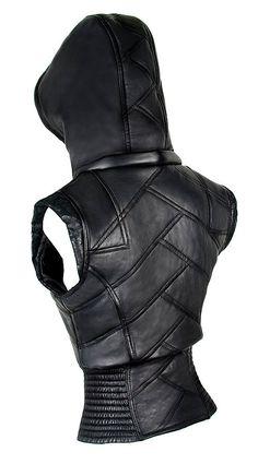 Leather Puma Vest by Verillas on Etsy