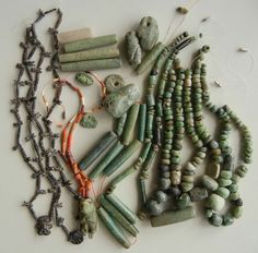 Direct Importer of Authentic Antique & Vintage African Beads Ancient Peruvian, Ancient Egypt History, Tribal Jewelry, Silver Jewelry, Silver Earrings, Mexican Jewelry, African Trade Beads, Jade Necklace, Le Far West