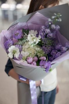 Serendipity, Lavender color french style bouquet from lafragrance flower